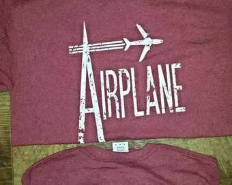 Airplane Red Short Sleeve Widespread Panic Lot Shirt