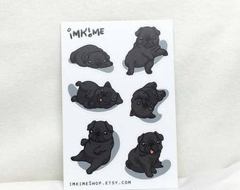 VINYL | Gimme Pugs! Cute Pug Stickers