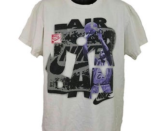 Nike Air Jordan T Shirt Vintage 80s 90s Michael Jordan Gray Tag Made In USA Mens Size XL