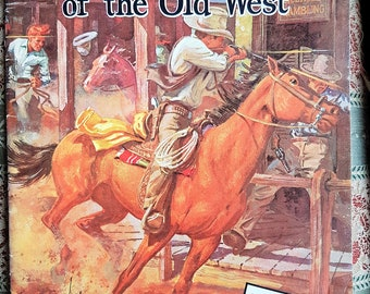 Horses and Riders of the Old West, Vintage Art Magazine, Kitsch