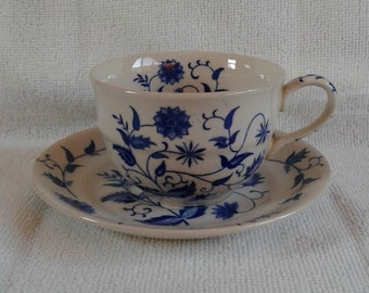 Vintage Blue Onion Japan Cup and Saucer