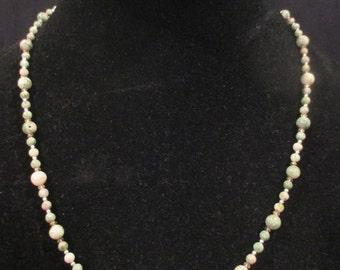 Peace jade beaded necklace