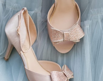 Imaani Zuri rose gold wedding shoe