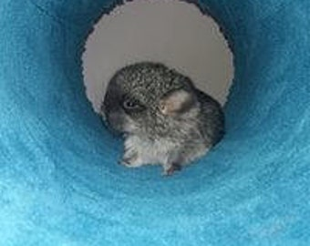 Big fluffy tube for chinchilla cage