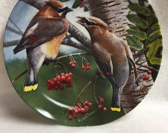 Knowles Encyclopedia Britannica Birds of Your Garden Collector Plate - Cedar Waxwing (#046)