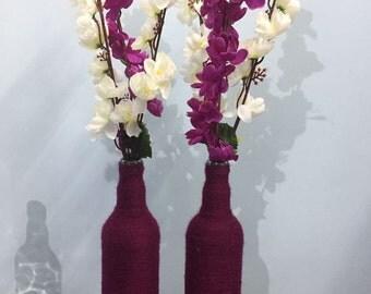 Magenta decorative vase