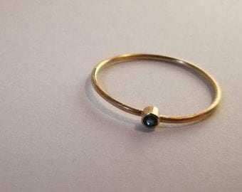 Delicate 9ct gold and sapphire ring