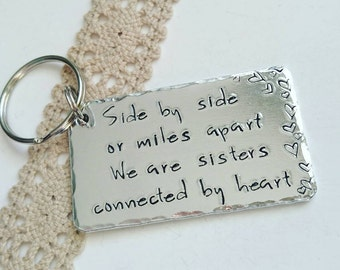 Personalised Sister gift, Long distance sister gift, Best friends gift, Gift for sister,  Handstamped gifts, Close at heart, best sister.