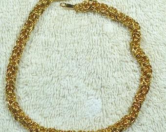 Gold Tone Byzantine Bracelet/Ankle Bracklet