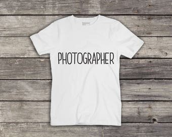 NEW Photography T-Shirt - Photographer - Photographer Gift - Photography top - Men T-Shirt