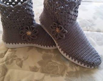 handmade crochet shoes