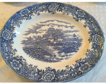 1960s Salem China Platter - Vintage English Ironstone Olde Staffordshire Platter.
