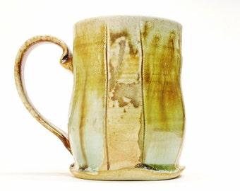 Large Coffee/Beer/Tea Mug, Woodfired Stoneware, 16 oz capacity