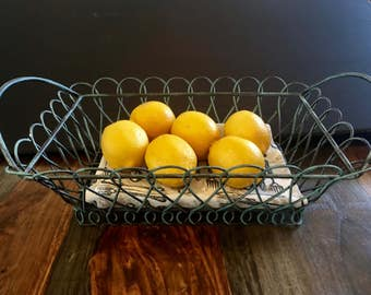Painted Wire Fruit or Bread Basket