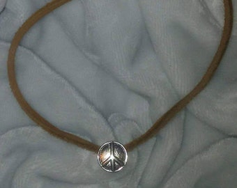 Raw Hide Leather Necklace