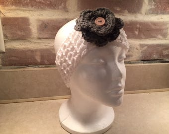 Adult Headband With Removeable Flower