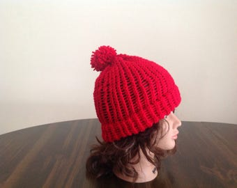Loose knit slouchy hat
