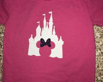 Sparkle Disney Castle & Minnie Mouse t-shirt   Walt Disney World Castle