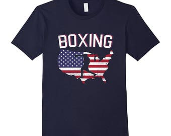 Boxing T-Shirt - Boxing Tee - Gift Idea For Boxing - Unique Boxing Gift - USA Boxing - American Boxing - Boxing Shirt Under 20