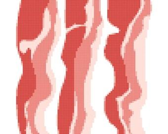 Bacon Cross Stitch Pattern (Pattern #018)