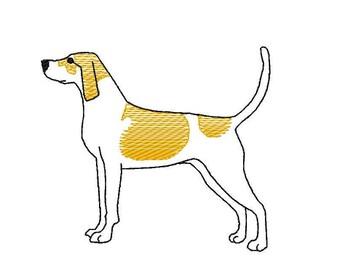 Vintage Stitch Hound Dog Tee