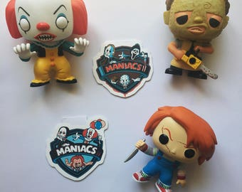 Horror bookmark set / Magnetic bookmarks / Horror characters / Handmade bookmarks / Chucky / Scream / Pennywise / Scream / Jigsaw