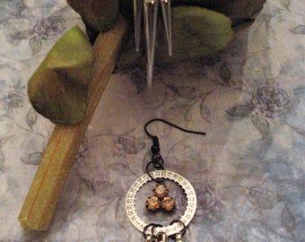 Steampunk Silver Spike Earrings