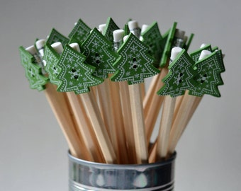 Christmas tree decorative pencils Pack of 5