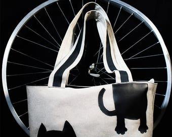 Lady bag with dog