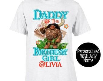 Moana Dad Shirt  - Moana Birthday Shirt