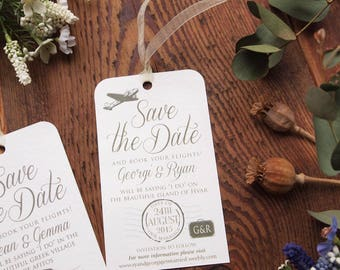 Save the Date Luggage Label