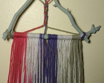 Dream Catcher Green Natural Pink Purple Wall Hanging