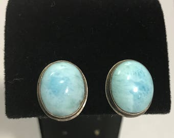 50% OFF | 1960's | Vintage | Blue Clip Earrings |