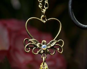 Swarvoski Crystal Heart Necklace