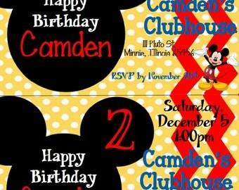 Mickey Mouse kid's birthday invitation