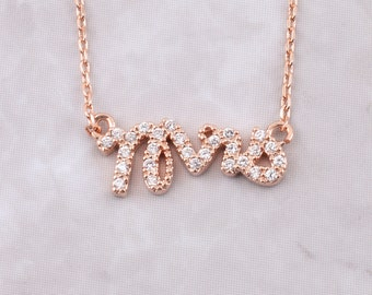 Mrs Pave Necklace