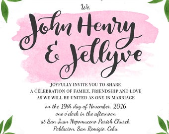 J&J Wedding Invitation Suite