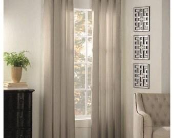 Cotton Twill Grommet Curtain Panels