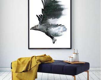 Freedom - Golden Eagle // Instant download