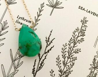 Chrysoprase Necklace, Green Necklace, Gemstone Necklace, Gemstone Choker