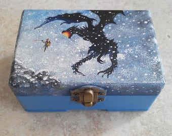 Skyrim Dragon Alduin, Fire Dragon, The Elder Scrolls-inspired box
