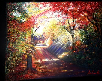 The Path of Hope Pastel Illustration