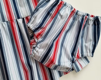 """Diaper Cover - """"Shore Lines""""- 12m to 18m - 18m to 2T - 2T to 3T"""