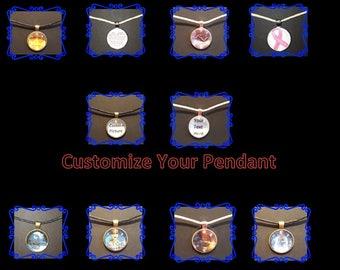 Custom Photo Pendant Necklace/Keychain