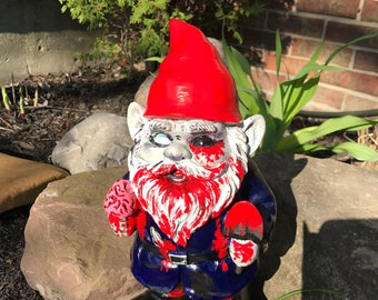 Zombie Garden Gnomes; 12 inch high Undead Yard Ornaments, Zombie Outdoor Statues, Living Dead Lawn Decor, Brain Eating Zombie Gnomes