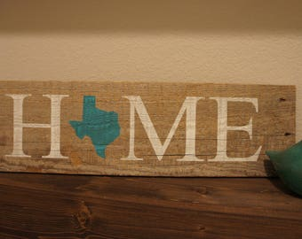 State Home Sign. Can be Customized with Any State or Color!