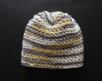 Handmade knit baby hat, gender neutral, variety of sizes and colors, made to order