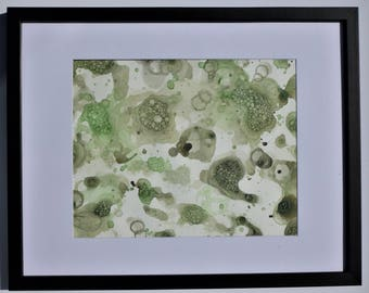 Forest Greens - Modern Watercolor Painting