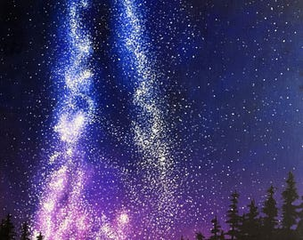 Milky Way Galaxy Painting in Oil No. 2