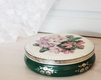 Gorgeous Vintage Floral Tin
